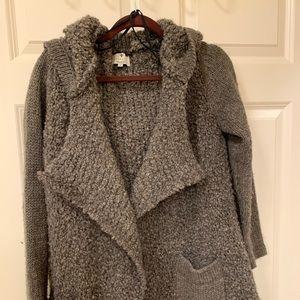 Sweaters - Open hooded sweater
